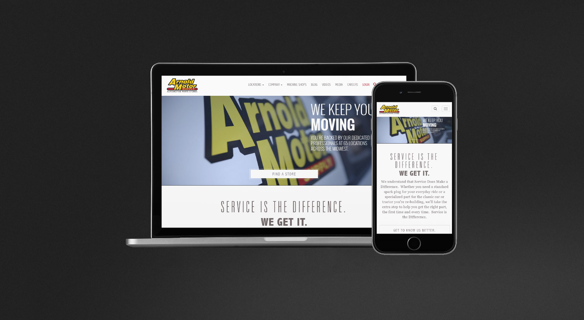 Arnold Motor Supply Responsive Web Design