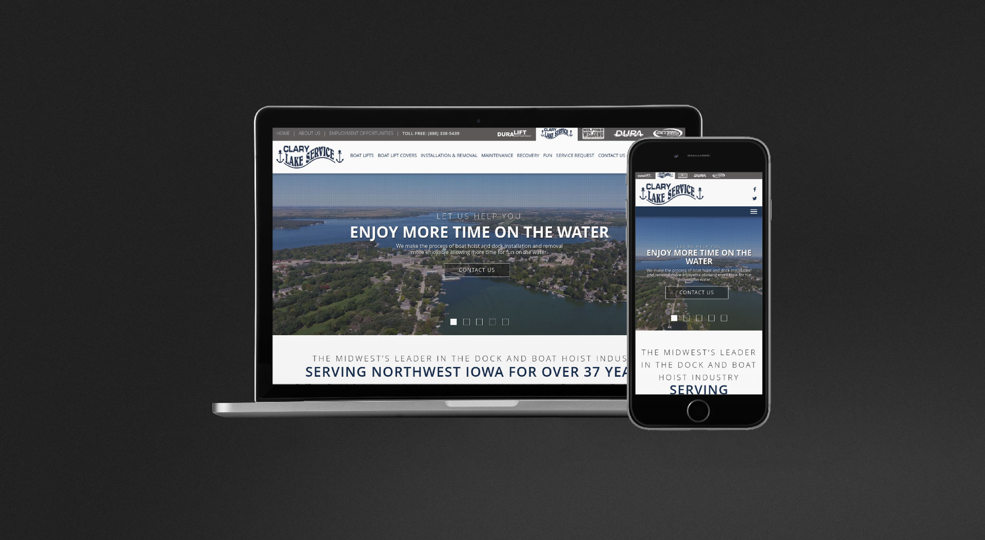 Clary Lake Service Responsive Web Design