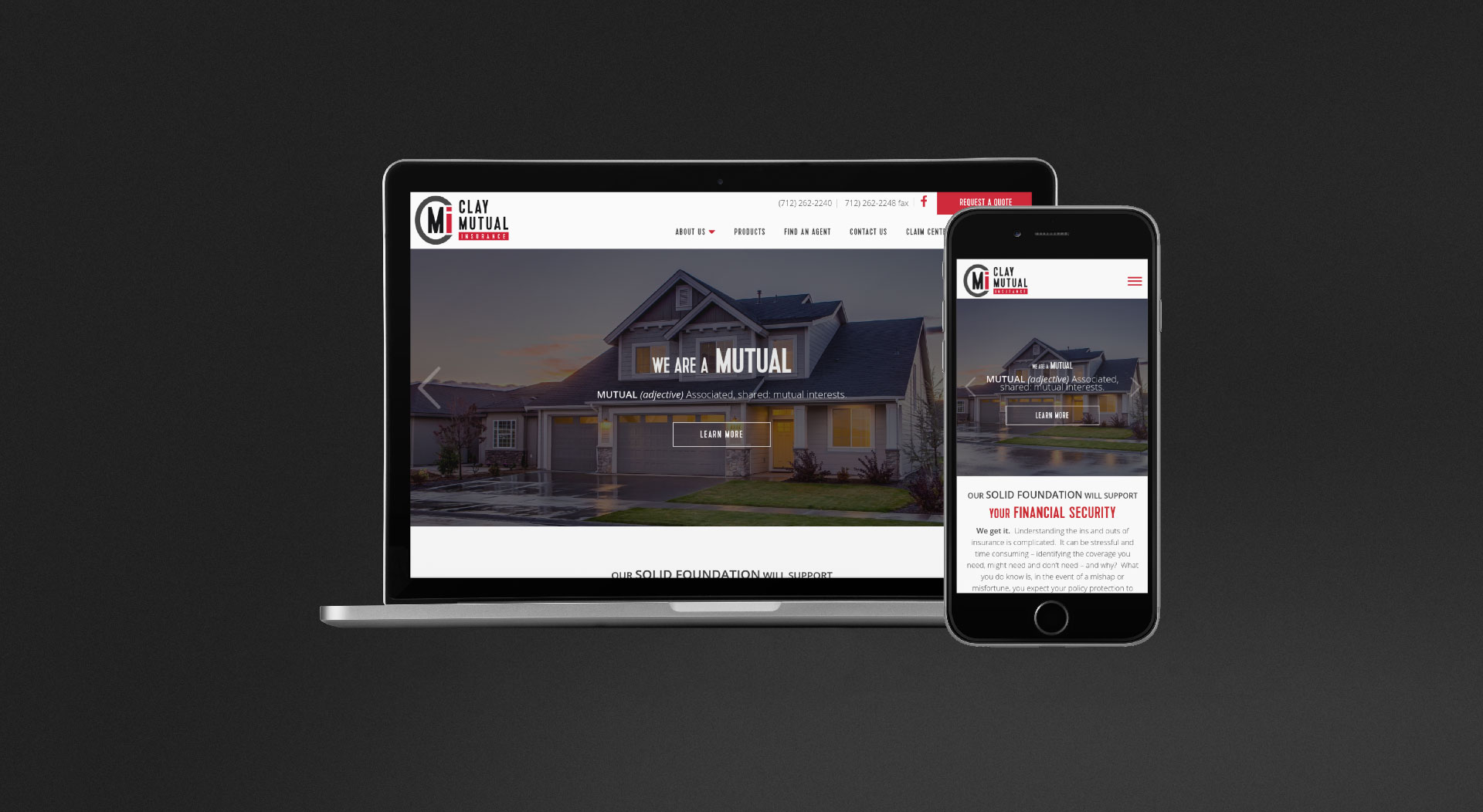 Clay Mutual Insurance Responsive Web Design