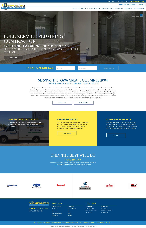 Comfortec Heating, Cooling & Plumbing | Our Work | Emagine