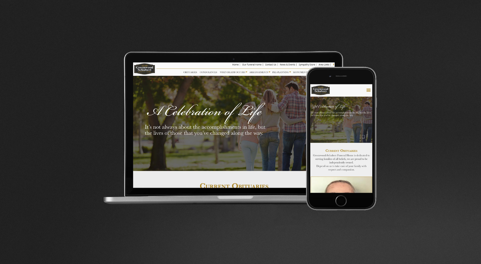 Greenwood-Schubert Funeral Home Responsive Web Design
