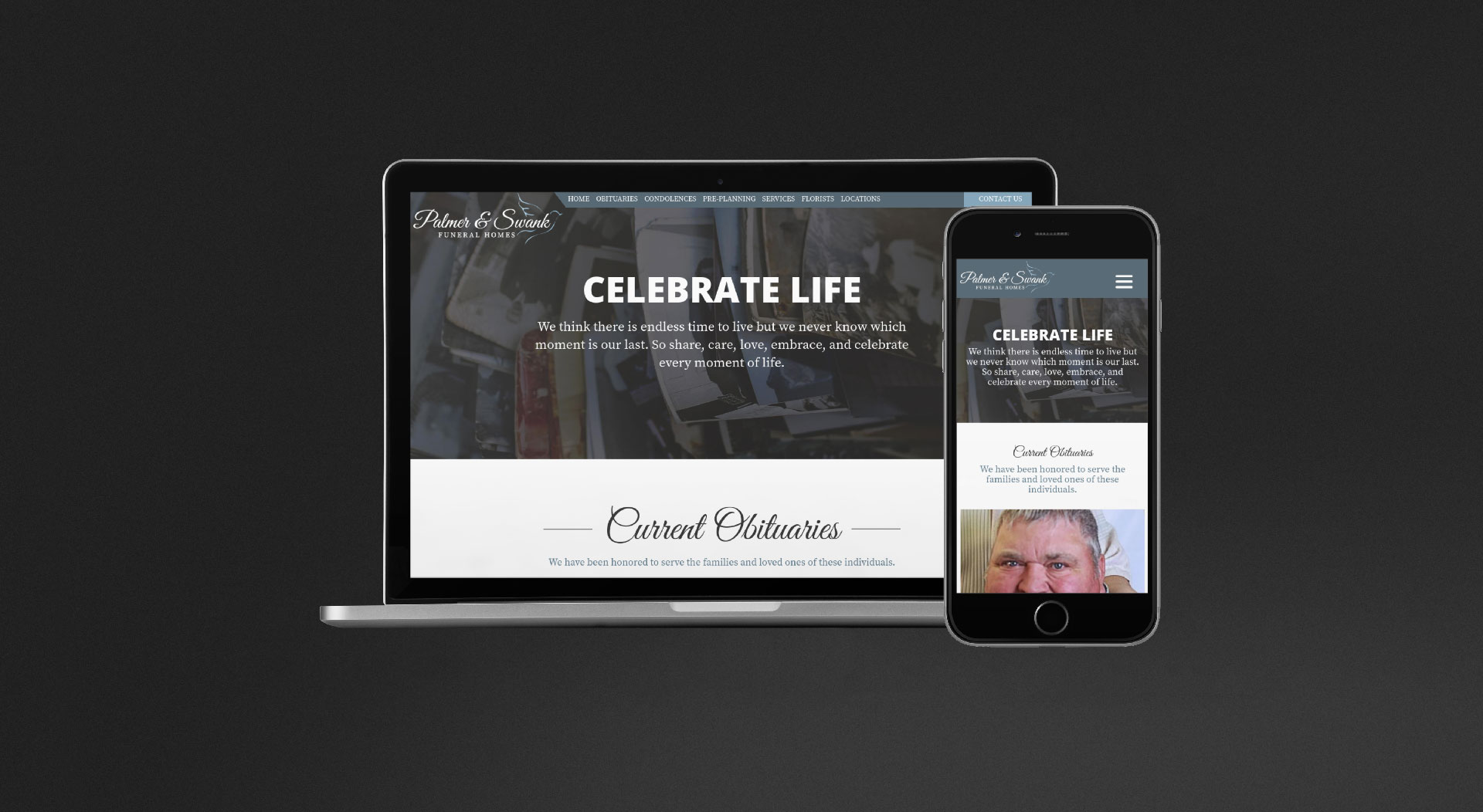 Palmer & Swank Funeral Homes Responsive Web Design
