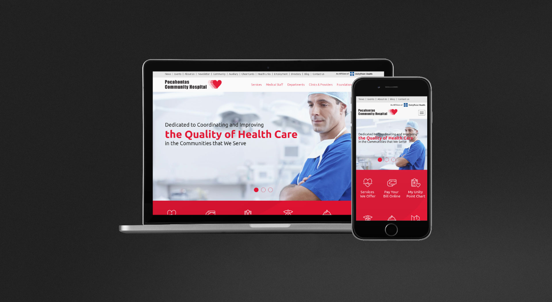 Pocahontas Community Hospital Responsive Web Design