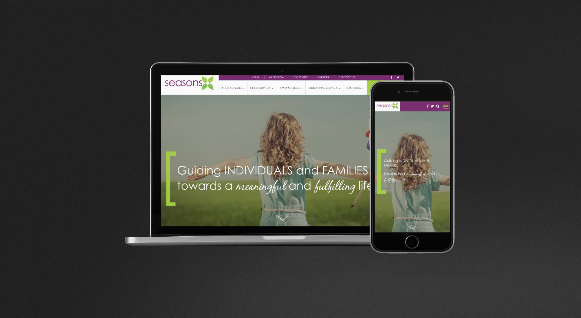 Seasons Center Responsive Web Design