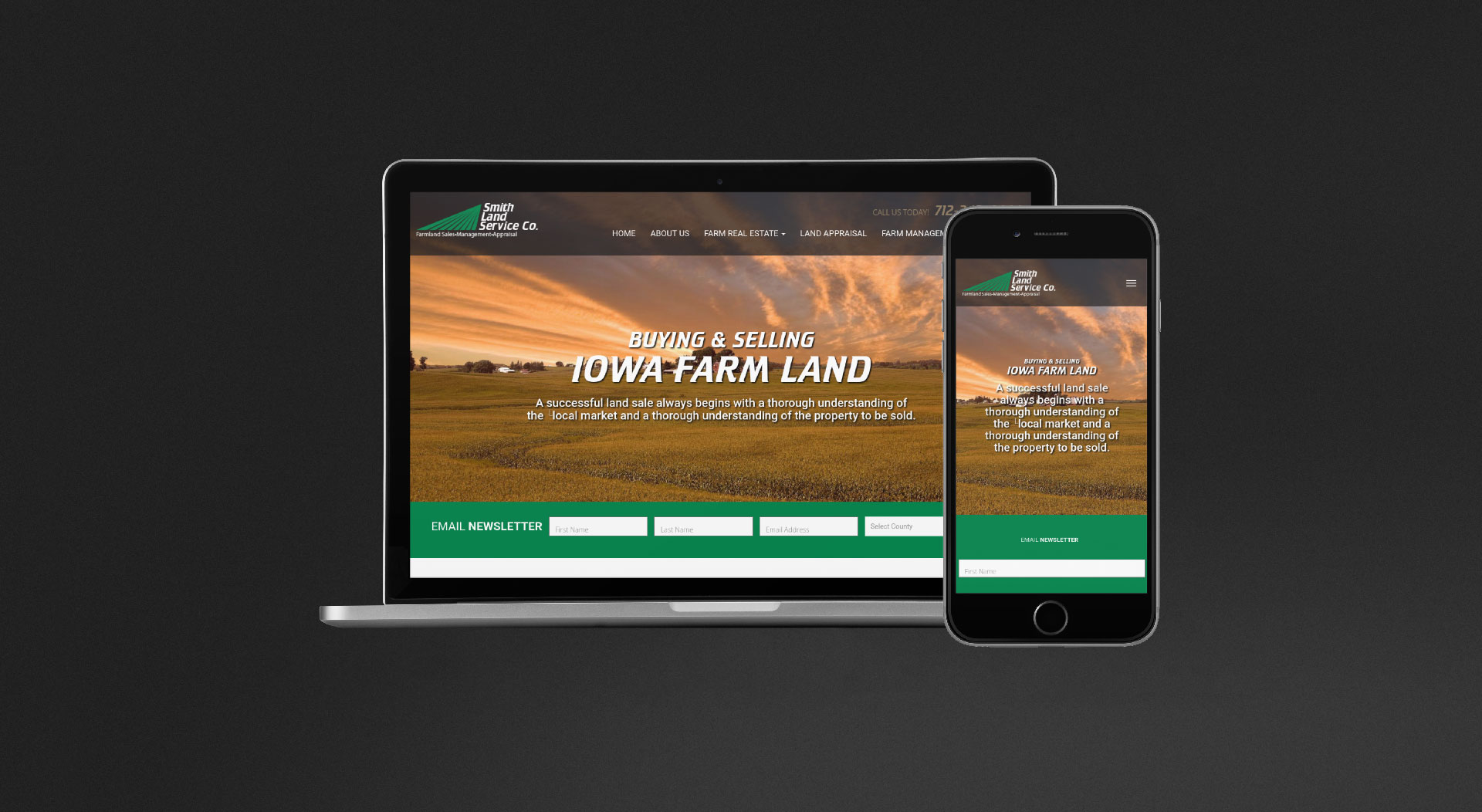 Smith Land Service Responsive Web Design