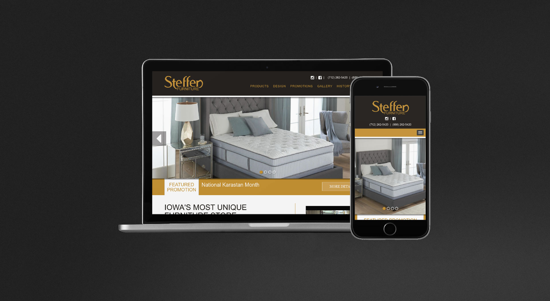 Steffen Furniture Responsive Web Design