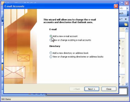 Email Setup - Outlook 2003