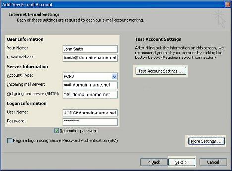 Email Setup - Outlook 2007